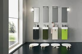 modern house bathroom two wooden door drawer vanity