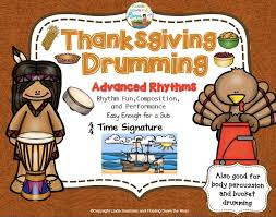 get out that drums or percussion and learn about thanksgiving