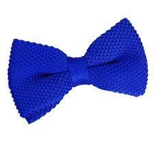 blue bows men s knitted royal blue bow tie