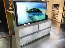 meuble tv caché meuble tv écran plat escamotable télécommandé françois desile