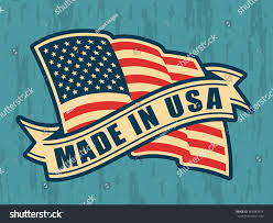 Flags Made In Usa Made Usa United States America Composition Stock Vector 483983974
