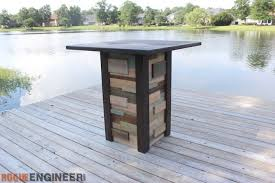 Reclaimed Wood Bar Table Modern Reclaimed Pub Table Diy Plans Rogue Engineer