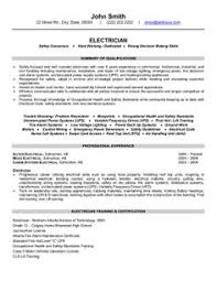 apprentice electrician resume sample job search strategies