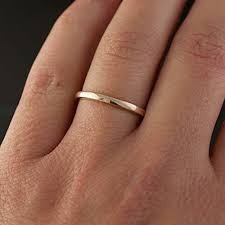 2mm ring king will 2mm gold plated comfort