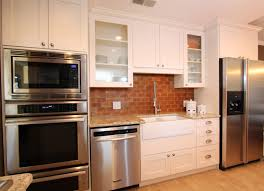 white exposed brick kitchen backsplash ellajanegoeppinger com