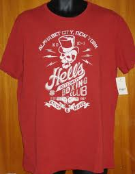 lucky brand hell u0027s kitchen boxing club graphic red tee shirt
