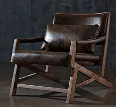 Armchair Leather Style Dining Chair Solid Wood American Armchair Leather Carved