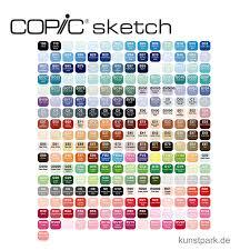 copic sketch set 358er präsentationskoffer
