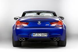 bmw m6 blue 2013 f13 blue bmw m6 convertible rear eurocar