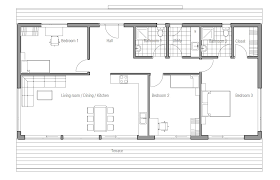 House Plans For Wide Lots Small House Ch64 1f 117m 3b House Plan With View House Plan