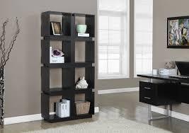 amazon com monarch specialties white grey hollow core bookcase