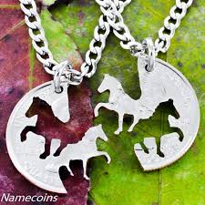 best friends necklace set images Cowgirl horses best friends necklace set from a coin namecoins jpeg