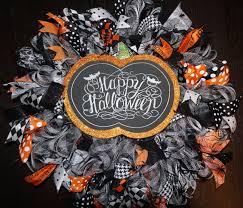 Pinterest Halloween Wreaths by Pumpkin Wreath Halloween Wreath Halloween Door Hanger Pumpkin