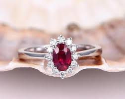 Ruby Wedding Rings by Ruby Engagement Ring Etsy