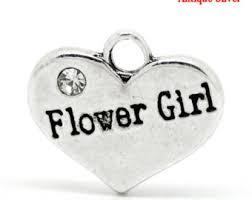 flower girl charm bracelet flower girl charm etsy