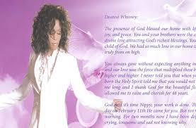 Pictures For Funeral Programs Whitney Houston U0027s Official Funeral Program U2013 Click Image Of The