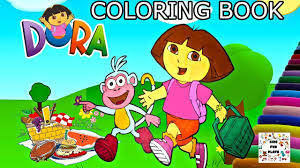 dora and boots going to picnic coloring book dora and friends