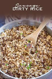 Main Dish Rice Recipes - sausage dirty rice recipe rice recipes sausage and spin