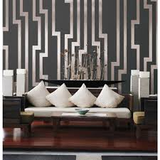 modern wallpaper in silver design by york wallcoverings candice olson shimmering details black and silver velocity wallpaper