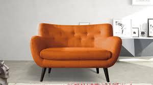 canap 2 places scandinave adele canapé 2 places scandinave tissu orange les docks du meuble