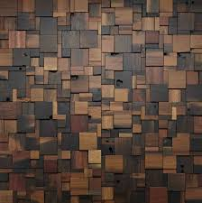 Wooden Design Stacked Square Wood Wall Design Woodwall Walldesign