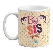 joyous best sister dolphin handle mug