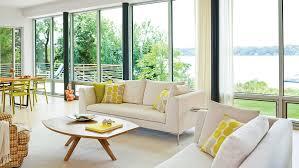 kitchen towel stone art style design living our favorite modern interiors coastal living
