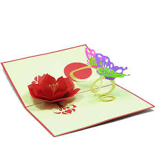 butterfly flower pop up card custom designs 3d greeting