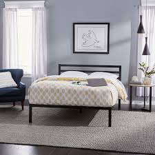 priage queen size black metal platform bed free shipping today