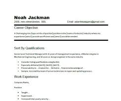 Chronological Resume Samples by Common Objectives On Resumes Chronological Resume Career Objective