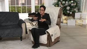 beautiful qvc recliner covers with sure fit reversible suede to