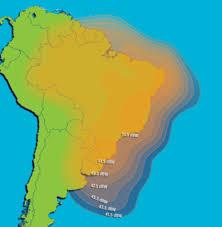 South America Satellite Map by Intelsat Galaxy 11 Coverage Area Maps For Ku U0026 C Band Beams