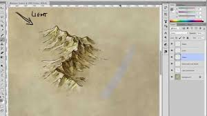World Mountain Ranges Map how to draw shade and colour a mountain range youtube