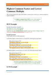 least common multiples worksheets koogra