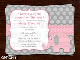Elephant Decorations For Baby Shower Baby Shower Invitations Elephant Theme Baby Shower Invitations