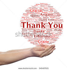 free concept or conceptual abstract thank you word cloud in