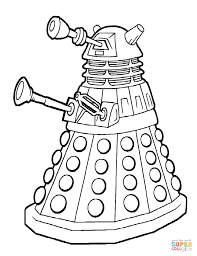 dalek emperor coloring page free printable coloring pages