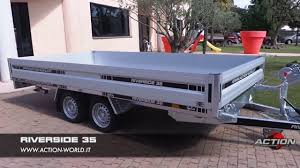 carrello porta auto riverside rimorchio trasporto auto e cose con sponde e re