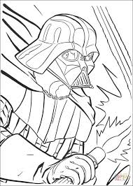 darth vader fighting coloring page free printable coloring pages