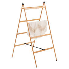 Folding Clothes Dryer Rack Bamboo Ladder Clothes Drying Rack The Container Store
