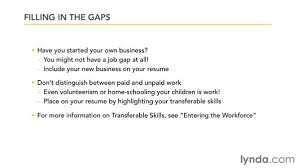 How To Fill A Resume Filling In Employment Gaps