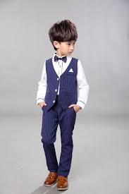 children baby boy blazer clothes set shirt striped vest
