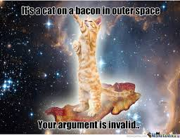 Meme Space - cant on a bacon in outer space well i m sure i can explain that