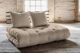 canape futon convertible canapé lit noir shin sano matelas futon couchage 140 200cm lights