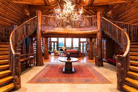luxury log home interiors house interior design of luxury log home with indoor stairs