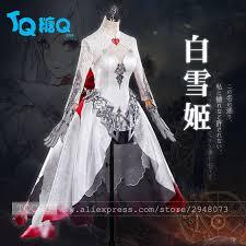 Halloween Costume Wedding Dress 2017 Newest Game Sinoalice Snow White Gothic Cosplay Dress