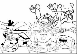 amazing st patricks day rainbow coloring page with st patrick day