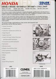 honda xr80r crf80f xr100r crf100f 1992 2009 service repair manual