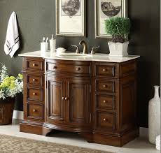 Antique Bathroom Vanity by Adelina 51 Inch Antique Bathroom Vanity Fully Assembled