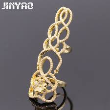 fashion long rings images Jinyao fashion knuckle filigree flower butterfly full zircon jpg